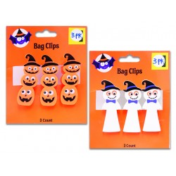 Halloween Printed Clips ~ 3 per pack
