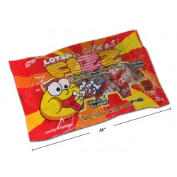 Halloween Lotsa Fizz Hard Candy with Sour Fizzy Powder FIlling ~ 225gram bag