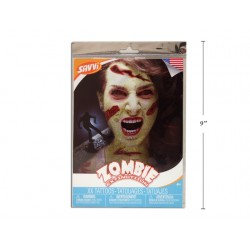 Halloween Adult Zombie Costume Face Tattoo