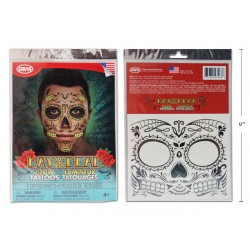 Halloween Day of the Dead Glow in the Dark Costume Face Tattoo