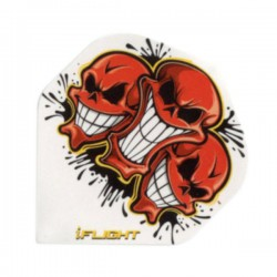 I-Flight Flights ~ 3 Red Skulls