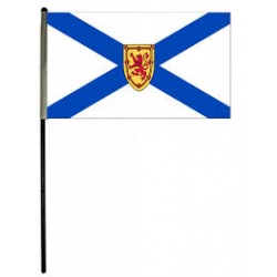 "Nova Scotia Flag on stick ~ 12"" x 18"""