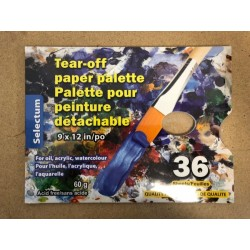 "Tear-Off Paper Pallette for Oil/Acrylic/Watercolor Paint - 9"" x 12""  ~ 36 sheets"