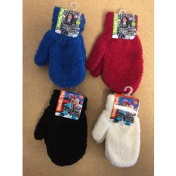 Kid's Solid Color Cozy Mittens