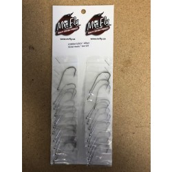 Eagle Claw Plain Shank Offset Nickel Hooks - Size 5/0 ~ 1 per pack / 24 per card