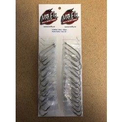 Eagle Claw Plain Shank Offset Nickel Hooks - Size 7/0 ~ 1 per pack / 24 per card
