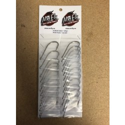 Eagle Claw Plain Shank Offset Nickel Hooks - Size 8/0 ~ 1 per pack / 24 per card