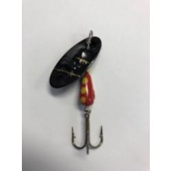 Panther Martin Lure - Size 9 ~ Regular Black Zebra Red Yellow