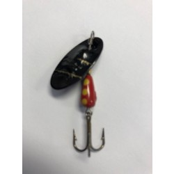 Panther Martin Lure - Size 4 ~ Regular Black Zebra Red Yellow