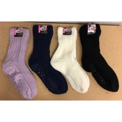 Ladies Cozy Socks with Grippers