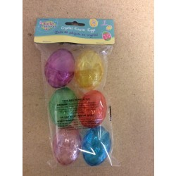 Fillable Easter Eggs - Crystal Look ~ 6 per pack