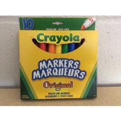 Crayola Broad Tip Markers ~ 10 per pack
