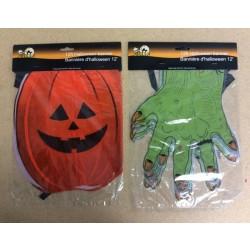 Halloween Plastic Banner ~ 12'