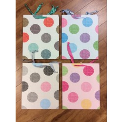 Large Gift Bags ~ Polka Dot with Satin Handles