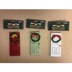 """5"""" Wooden Mini Door w/Wreath Ornament"""