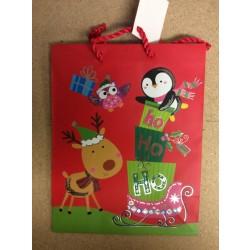 Medium Christmas Gift Bags ~ Ho Ho Ho