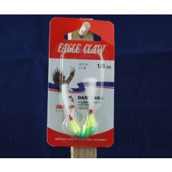 Eagle Claw Shad Darts - 1/8oz ~ Chartreuse / Lime