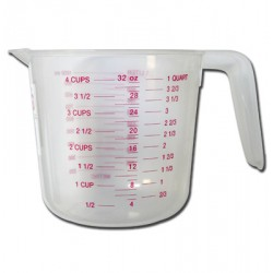 Plastic Measuring Cup ~ 1 Litre / 4 cups