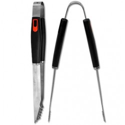 """Stainless Steel BBQ Tongs ~ 16"""""""