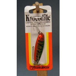 Krocodile Lure - 1/4oz ~ Metallic Perch Brass Back