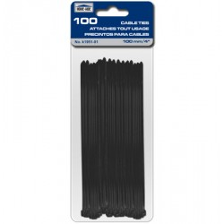 "Cable Ties - Black ~ 100mm/4"" - 100/pk"