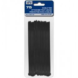 "Cable Ties - Black ~ 150mm/5.9"" - 75/pk"