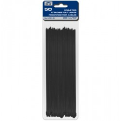 "Cable Ties - Black ~ 200mm/7.9"" - 50/pk"