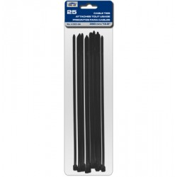 "Cable Ties - Black ~ 350mm/13.8"" - 25/pk"