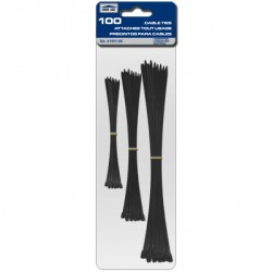 Cable Ties - Black ~ Assorted - 100/pk