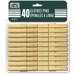 Wooden Clothes Pins ~ 40 per pack