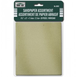 "Sandpaper - 4-1/2"" x 5"" ~ 30 pieces"