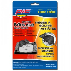PIC Baited Mouse Glue Traps ~ 4 per pack