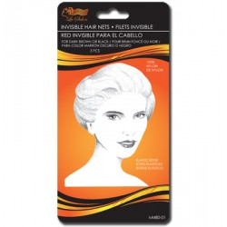 Invisible Hair Nets - DARK ~ 3 per pack