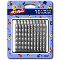 Birthday Candle - Silver ~ 1- per pack
