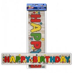 "Foil Banner - 6' ~ ""Happy Birthday"""