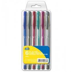 Metallic Gel Pens - assorted colors ~ 6 per pack