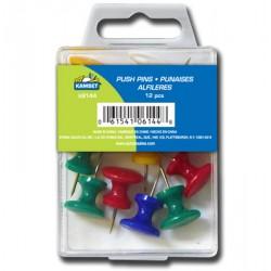 Jumbo Push Pins - Assorted Colors ~ 12 per pack