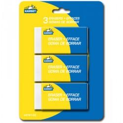 Erasers - White ~ 3 per pack