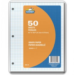 Graph Paper - Quad 4 to 1 ~ 50 sheets