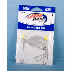 Eagle Claw Double Hook Flounder Rig w/Corn Bead & 3 Way Swivel
