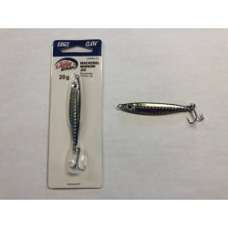 Eagle Claw Mackerel Minnow Jig, 20 gram ~ Black Silver Prism