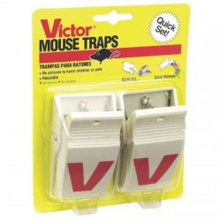 Victor Easy Set Plastic Mouse Traps ~ 2 per pack