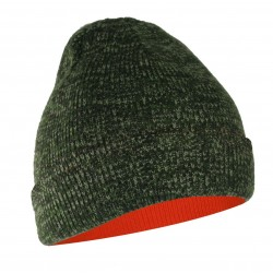 Lined Reversible Toque ~ Fluorescent Orange / Camo