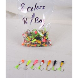 Shad Darts - assorted colors ~ 96 per bag