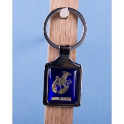 Nova Scotia Lobster Keychain w/Glossy Blue Background