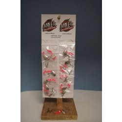 Mr Fly Minnow Rig w/Adjustable Stinger Hook - Pink Beads