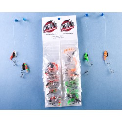 Mr Fly Minnow Rig w/Adjustable Stinger Hook - Assorted Colors