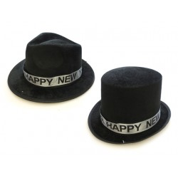New Year's Black Fedora Top Hat