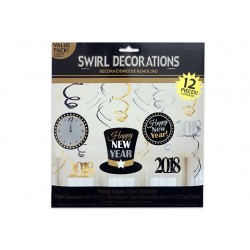 New Year's Hanging Foil Decoartions ~ 12 pieces