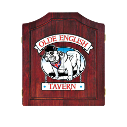 Olde English Tavern Dartboard Cabinet